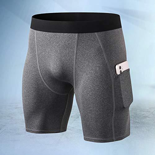 Zwbfu Calção de compressão masculino fitness ciclismo treino de ginásio de secagem rápida Roupa interior desportiva de corrida