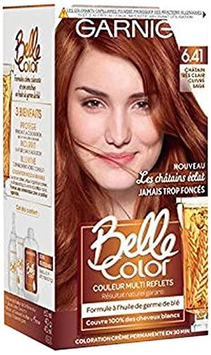 Garnier Belle Color C6063174 Les Châtains Eclat 6.41 Très Clair Cuivré Sage Coloration