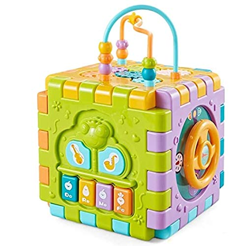 ESnipe Mart® Activity Cube Multipurpose Play Centre for Toddlers and Kids, Skill Improvement Educational Game Toys , Busy Learner Cube