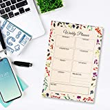 The Papier Ocean Weekly Planner Pads A5 Size 52 Weeks Sheets (White Flowers)