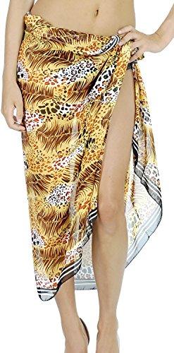 LA LEELA Toallas de playa para mujer, talla única, estilo bohemio, para pareo - marr�n - 183 cm x 107 cm