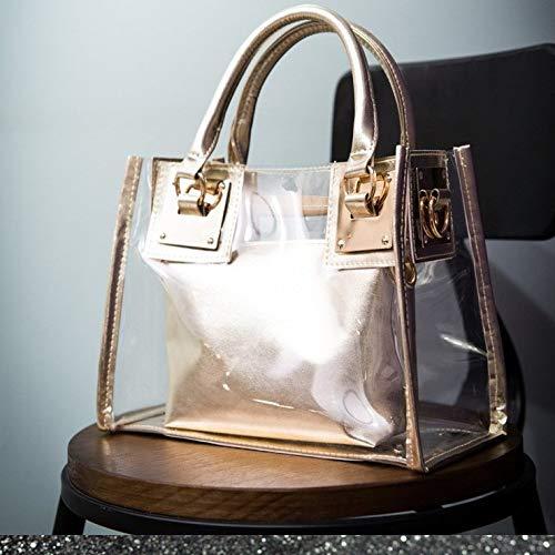 YYZZ Bild Tasche Strandtasche Schulter Mobile Messenger transparent Gelee Mode Handtaschen
