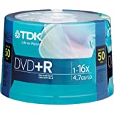 TDK 16X DVD+R 50 Pack Spindle, model # DVD+R47FCCB50M