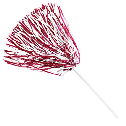 Anderson's Spirit Shaker Stick Pompoms - Maroon and White, Package of 10