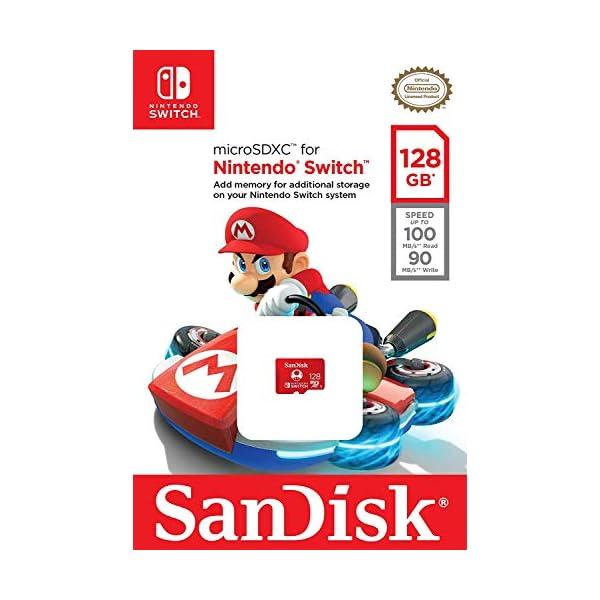 SanDisk 128GB microSDXC UHS-I Card for Nintendo Switch – SDSQXBO-128G-AWCZA