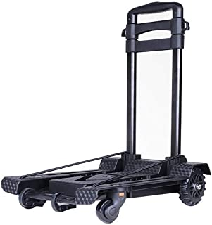 YXZQ Package Bag, Folding Hand Truck The Third Generation of New Upgraded, 4-Wheel Folding Trolley TPR Wheel 360° Rotating...