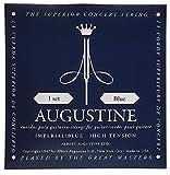 Augustine 650477 Imperial Blue Label Jeu de Cordes pour Guitare classique tension forte/forte