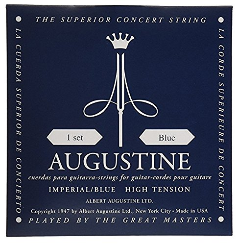 Augustine Klassik Gitarrensaiten Imperials Label Satz Blue High Tension/Basssaiten High Tension