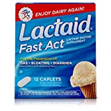 Lactaid Fast Act Lactose Intolerance Relief Caplets with Lactase Enzyme, 12 Travel Packs of 1-ct....