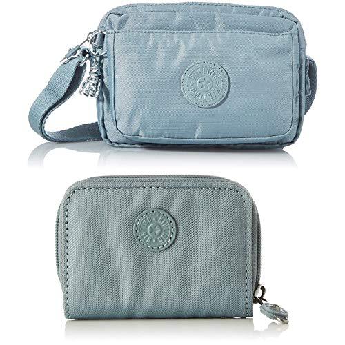 Kipling Women's ABANU Cross-Body Bags, Sea Gloss, One Size+Kipling Women's TOPS Accessory-Travel Wallet, Sea Gloss, One Size