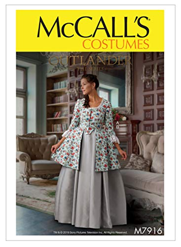 McCall's Patterns McCall's M7916A5 Outlander the Series Caraco Jacket and Full Skirt Women's Costume Sewing Patterns, Sizes 6-14 Schnittmuster
