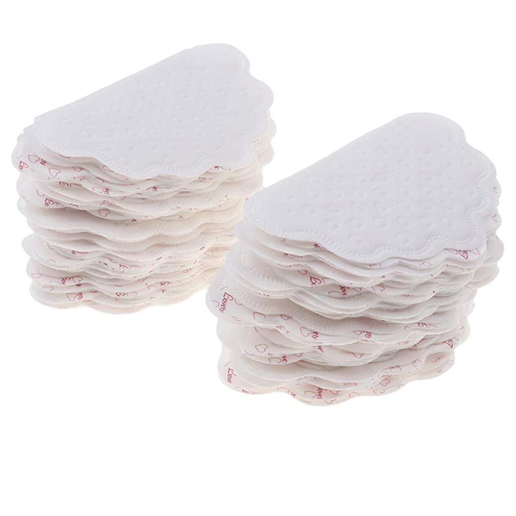 無視抗生物質空のchiwanji 汗取りパット 脇の下汗パッド 吸収 使い捨て メンズ レディース 脇の汗染み防止 全2色 - 白