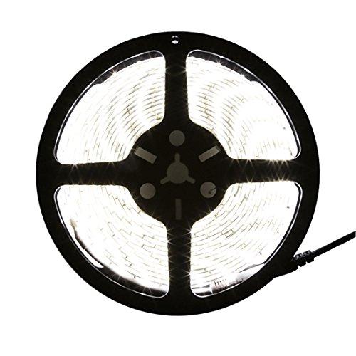 LEDMO Flexible LED Strip Lights,LED Light Strip Waterproof,Super Bright 600Units SMD2835 LEDs,Cool White,16.4Ft/5M,Lighting Strips