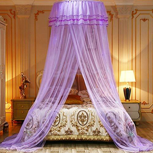 Mückennetz,Prinzessin Moskitonetz aus,Moskitonetz Spitzen,Moskitonetz,mosquito net,moskitonetz doppelbett,Moskitonetz Bett,groß mückennetz inkl (Lila)
