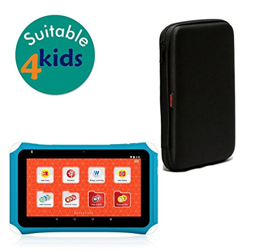 Navitech Black Hard Protective Case Cover for The Fisher-Price Learning Tablet. Powered by nabi.