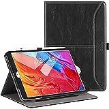 Ztotops Funda para iPad 10.2 2020/2019 (iPad 8ª/7ª generación), Carcasa de Cuero con Bolsillo y Soporte, Función de Auto-Sueño/Estela, Múltiples ángulos, Cover para iPad 10.2 - Negro