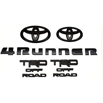 Genuine Toyota 4Runner TRD OFF ROAD Black/Blackout Emblem Overlay Kit/Set PT948-89200-02