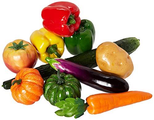 Lorigun 10 Stück/Set künstliches Gemüse Simulation Gemüse Dekoration Küche Home Decor Realistische Fake Gemüse Dekor Set Foto Requisiten
