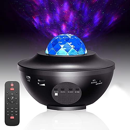 tessa USA Star Projector Night Light, Ocean Wave Projector with Bluetooth...