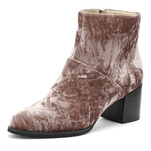 Shoe the Bear Ceci Femmes Deep Blush Marron Velvet Bottes-UK 5