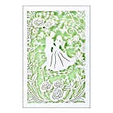 Hochzeitskarte   12 cm x 18 cm   Mit farbigem Einleger & Umschlag   Grußkarte für Hochzeit   Glückwunsch-Karte   Motiv: Brautpaar, Vermählung, Tanzendes Paar (Design 1)