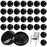 """32 Pack of 1.5"""" Patio Furniture Glides/Feet/Caps for Wrought Iron Outdoor Furniture – Protect Your Floor Surfaces from Scratches, Replacement for Eight Chairs (with 4 Legs), Easy to Install Impresa"""