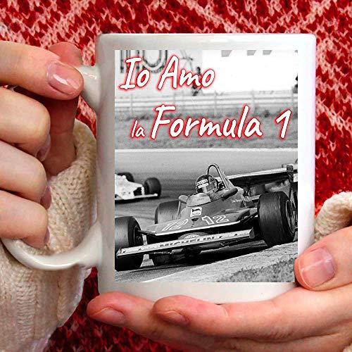 Taza con diseño de Amo Formula Uno 1 de cerámica, 350 ml, para ti o como regalo para hombre, amigo, papá, tío, sobrino, abuelo, cumpleaños, aniversario