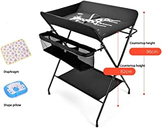 Black -Multifunctional Crib,Portable Bassinet For Baby,Baby Changing Table, Baby Care Table Baby Room Operation Table, Touch Table, Portable Folding Diaper Station (Color : Black, Size : A)