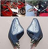 Moto Retrovisori Specchi LED Indicatori di Direzione Luci Integrate Fit Per Ducati 848 1098 1098S 1098R 1198 1198S 1198 R 2007-2012