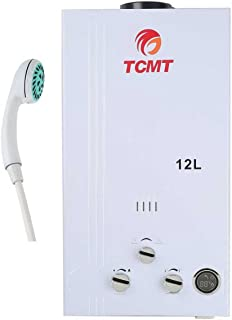TC-Home Propane Gas Instant Tankless Hot Water Heater Boiler House Bath (Propane Gas-12L)