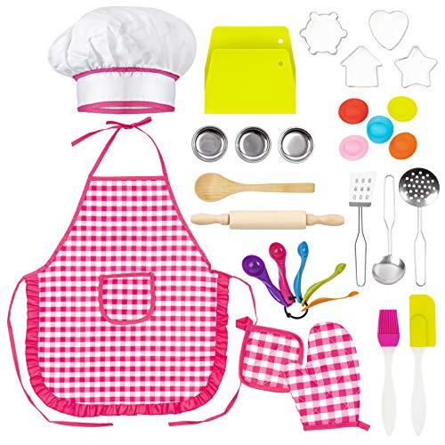 THE TWIDDLERS 30 Piezas Juego de Cocina para Niñas: Juego de Rol de Chef
