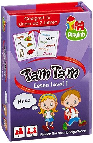 Jumbo Spiele 18172 - Tam Tam Lesen Level 1, Kartenspiele