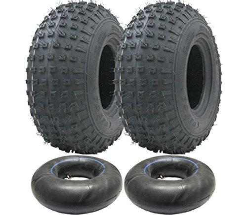 Parnells 2-145/70-6 - Juego de neumáticos y cámaras de Cuatro Ruedas 50cc 90cc 110cc 75 kgs - Neumático Wanda P319 Quad