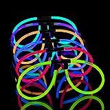 50 leuchtende Knicklichter Brillen - Leuchtbrillen Set (50 Brillen) - Pilotenbrille