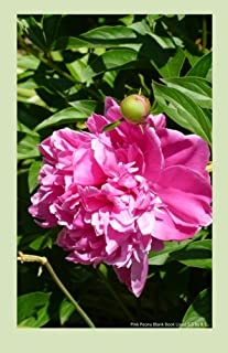 Pink Peony Blank Book Lined 5.5 by 8.5: 5.5 by 8.5 inch 100 page lined blank book suitable as a journal, notebook or diary...