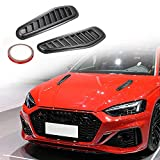 TOMALL Car Hood Scoop,Car Air Flow Intake Cover,Universal Decorative Exterior Car Styling Cover 1 Pair (Black)