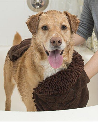 Dog Gone Smart Dirty Dog Shammy towel with hand pockets