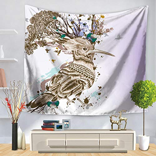 Elegante Tapiz con patrón de Alce de Cuento de Hadas, tapete de Playa, Alfombra de Yoga, Ciervo, Colgante de Pared, decoración Moderna para el hogar, Manualidades artísticas