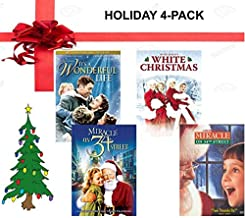Christmas Movies on DVD 4-Pack - It's a Wonderful Life / Miracle on 34th Street 1947 & 1994 / White Christmas