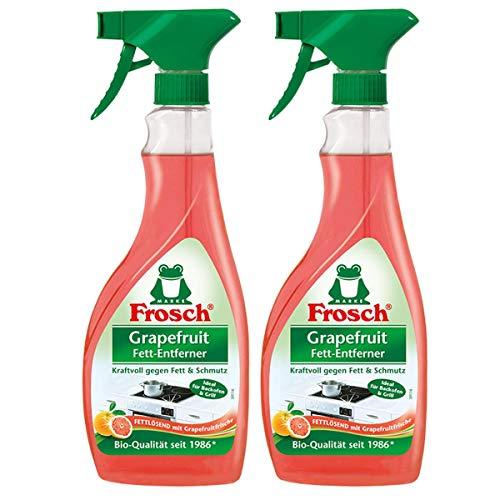 Frosch Grapefruit Fett-Entferner, 2er Pack (2 x 500 ml), Sprühflasche
