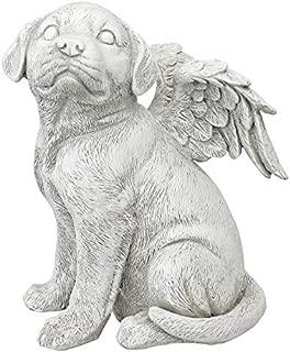 Design Toscano Loving Friend, Memorial Pet Dog Statue, Large, Antique Stone