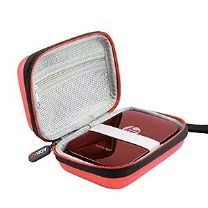 Duro Estuche Viajes Funda Bolso para HP Sprocket - Impresora fotográfica portátil by AONKE (Red)