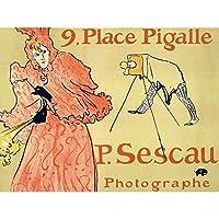 Toulouse-Lautrec Sescau Photographer Paris Advert Extra Large XL Wall Art Poster Print アンリドトゥールーズロートレック写真パリ広告壁ポスター印刷