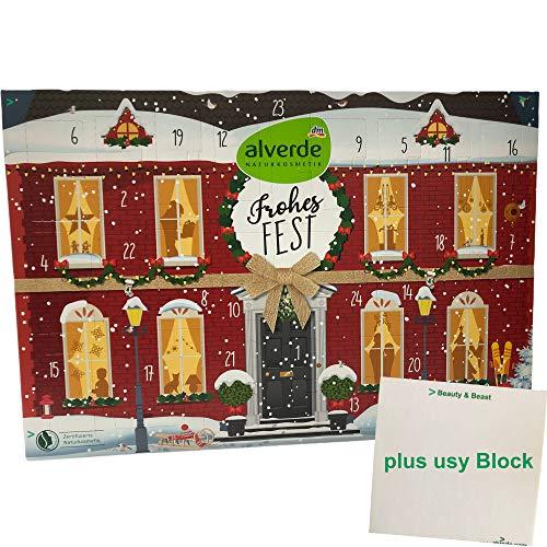 alverde Adventskalendar 2020 natürlich schöne Weihnachten (1Stk) plus usy Block