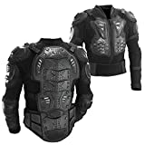 Ediors Motorcycle Full Body Armor Protector Pro Street Motocross ATV Titan Sport Jacket Shirt (Large)