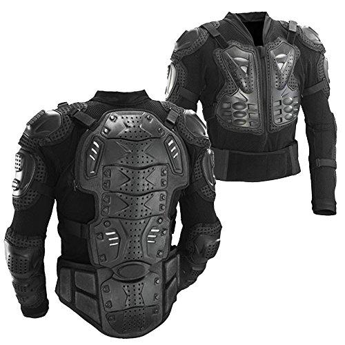 Ediors Motorcycle Full Body Armor Protector Pro Street Motocross ATV Titan Sport Jacket Shirt (X-Large)