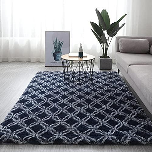 QXXKJDS Alfombra gris teñido suave alfombras para sala de estar, dormitorio, alfombra antideslizante de absorción de agua (color: A14, tamaño: 120 x 200 cm)