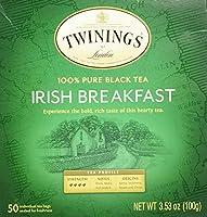 Twinings Irish Breakfast Black Bagged Tea, 50 Count(並行輸入商品)