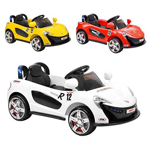 Hecht Elektro Kinderauto Kinder Auto Elektroauto Elektrofahrzeug + MP3 + LED + Sound + Hupe