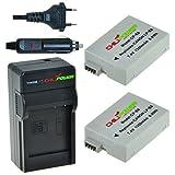 Chili Power LP-E8Kit: 2x Batería + Cargador para Canon EOS 550d, EOS 600d, EOS 650d, EOS 700d, EOS Rebel T2i, T3i, T4i, T5i, Kiss X4, X5, X6, LC de E8E